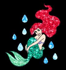 Den lilla sjöjungfrun Sparkling Klistermärken 6