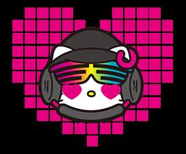 DJ Hello Kitty的贴纸 6