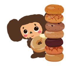 Stickers Cheburashka 5