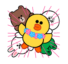 LINE Characters: Cute and Soft Summer Stickers 7