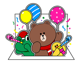 Brown Cony Greeting 7