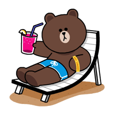 LINE Characters - Happy Vacations Stickers 7