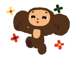 Stickers Cheburashka 6