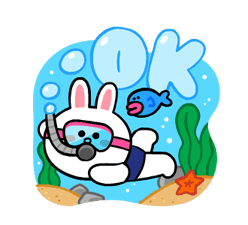 LINE Characters: Cute and Soft Summer Stickers 8