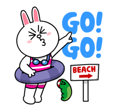 LINE Characters - Happy Vacations Stickers 8