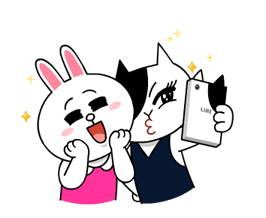 Cony and Jessica: Girls Night Out Stickers 8