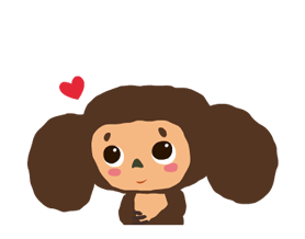 Stickers Cheburashka 23